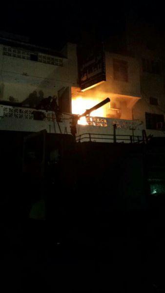 احراق مقر الاصلاح بعدن - عدن نيوز