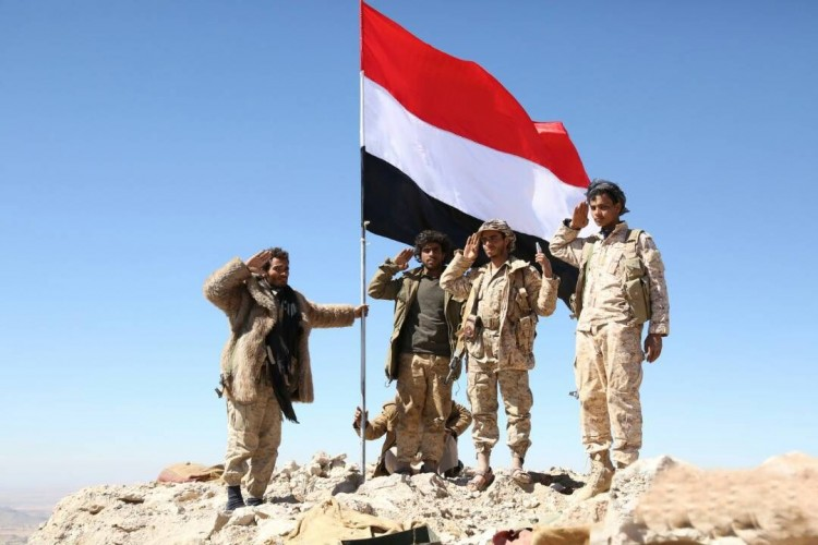 ابطال الجيش الوطني يحررون مواقع استرايجية شمال الجوف