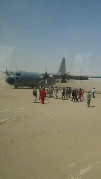 شاهد بالصورة.. هبوط اول طائرة سعودية في محافظة مأرب