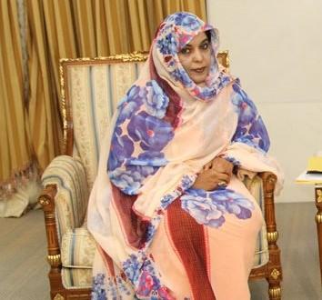 السفير العرادة يلتقي رئيسة اللجنة الوطنية لحقوق الانسان الموريتانية