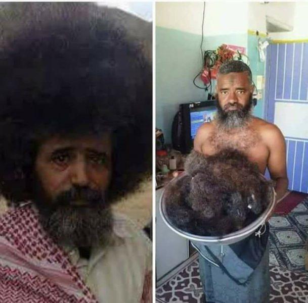بسبب خداعه بحلم تحقيق الانفصال، مواطن جنوبي يقص شعره بعد امتناعه لمدة 11 عام (صورة)