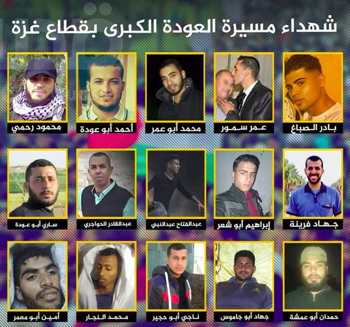 غزة الحزينة.. جماهير غفيرة تشيع جثامين شهداء مسيرة العودة الكبرى في مشهد مهيب