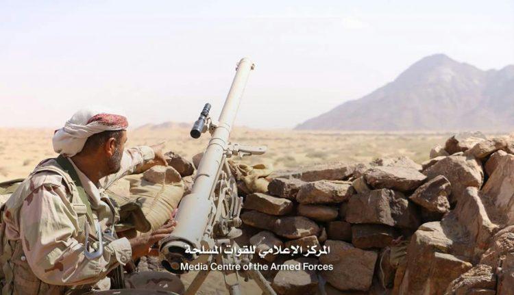 قوات الجيش الوطني تصد هجوما عنيفا لمليشيا الحوثي في جبهة المصلوب بالجوف