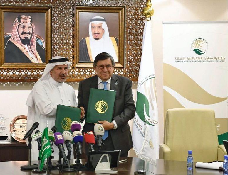 مركز الملك سلمان الاغاثي يقدم منحة بـ 20 مليون دولار لدعم الانشطة الانسانية بالشراكة مع (اوتشا)