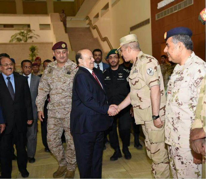 رئيس الجمهورية ونائبة يزوران مركز قيادة القوات المشتركة بوزارة الدفاع السعودية