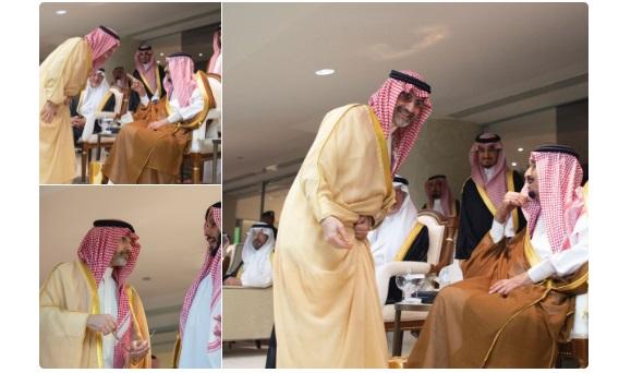 الوليد بن طلال يلتقي الملك سلمان على ملعب الجوهرة بجدة (صور)