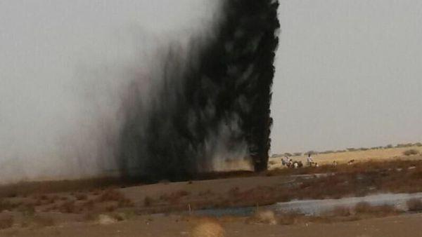 الحديدة: السلطة المحلية تدين تفجير انبوب النفط من قبل مليشيا الانقلاب