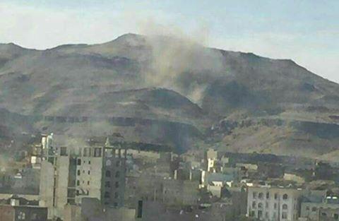 عاجل.. 5 غارات لطيران التحالف على العاصمة صنعاء (صور)