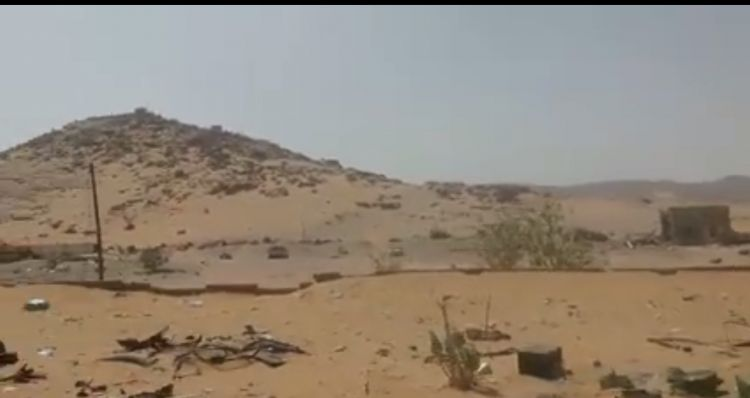 """صعدة.. الجيش الوطني يحرر مركز """"البتيرا"""" الذي كانت تتخذه المليشيا الجارة العمليات العسكرية فيغر بالبقع"""