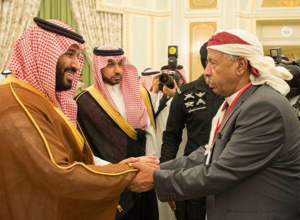 """الأمير محمد بن سلمان يستقبل مشايخ اليمن بالرياض """"صور وفيديو"""""""