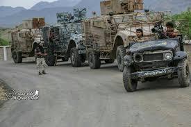 قوات الشرعية تتقدم غرب تعز ومقتل العشرات من الانقلابيين وتدمير العديد من آلياتهم