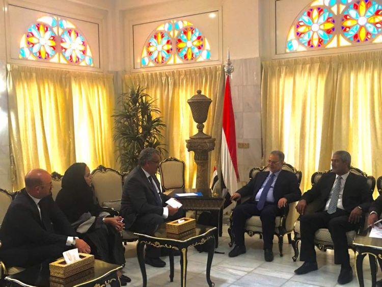 المخلافي يستقبل ممثل منظمة الصحة العالمية لدى اليمن