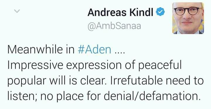 تغريدة للسفير الالماني لدى اليمن تثير جدلا