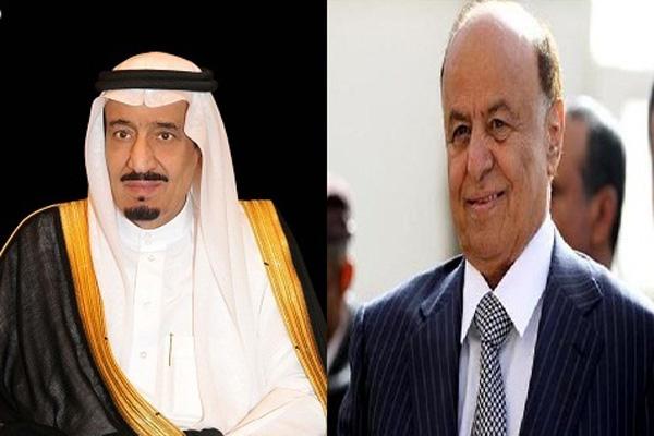 الملك سلمان يهنئ رئيس الجمهورية بالعيد الوطني الـ 27 للوحدة اليمنية وعيدروس يغادر المملكة