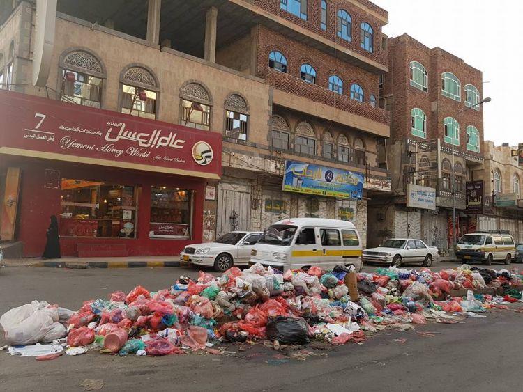 النفايات والأوبئة تفتك بالعاصمة صنعاء