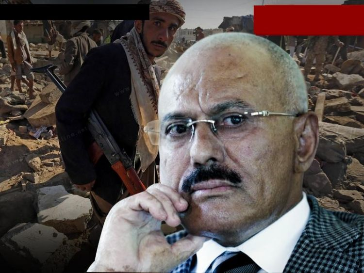 """عاجل .. قيادي حوثي يهاجم المخلوع صالح ويطلق عليه اوصاف """"بذيئة"""""""