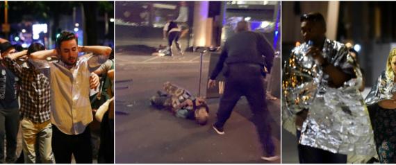 شاهد ليلة مرعبة في لندن.. رجالٌ يحملون السكاكين وسيارةٌ تدهس العشرات وأجسادٌ تتطاير.. مقتل 7 أشخاص وإصابة 50 في العاصمة البريطانية
