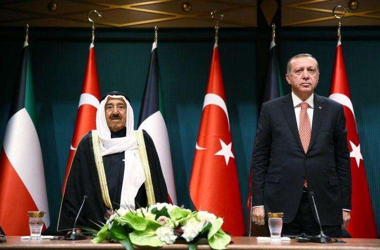 الرئيس التركي وامير الكويت يبحثان سبل حل الازمة الخليجية