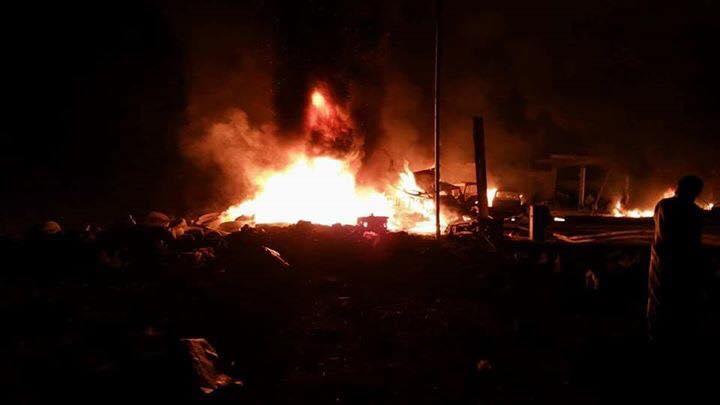 طيران التحالف يدمر مخزن اسلحة للمليشيا الانقلابية في صعدة (صور)