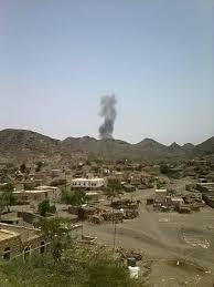مليشيا الحوثي تقصف القرى السكنية ومنازل المواطنين في كرش