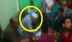 بالفيديو.. مأذون مصري يموت أثناء عقده قران ابنته