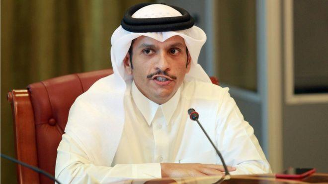 وزير الخارجية القطري : مستعدون للحوار ونرفض قائمة المطالب