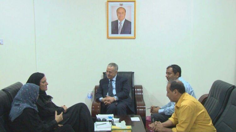 محافظ عدن يناقش مع المفوضية السامية قضايا اللاجئين