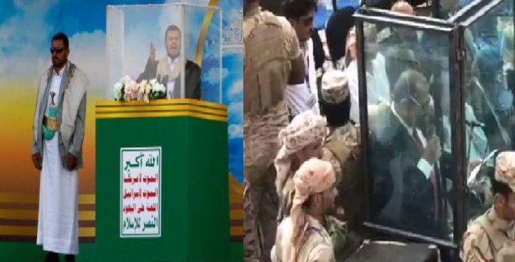 """شاهد الصورة الاكثر تداولاً في اليمن اليوم """"قفص عبدالملك الحوثي وعيدروس الزبيدي"""""""