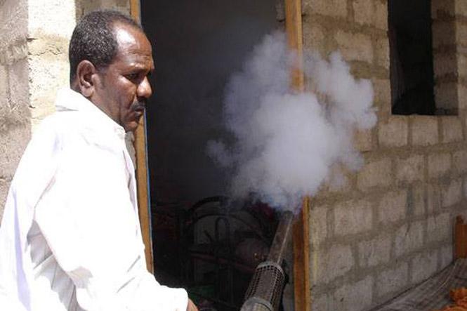 تدشين حملة الرش الضبابي لمكافحة حمى الضنك و الملاريا في لحج