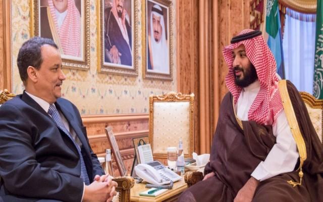 ولي العهد السعودي يلتقي المبعوث الأممي لليمن في جدة