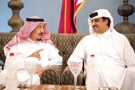 امير قطر ينعي الملك سلمان في وفاة الشقيق الاكبر للعاهل السعودي