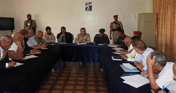 اللجنة الامنية في تعز تعقد اجتماعا مع القوى والاحزاب السياسية في المحافظة.