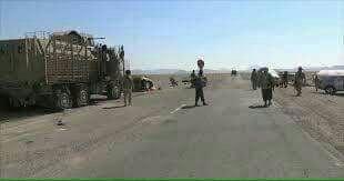 شاهد صورة لاول نقطة نصبها الجيش الوطني على خط تعز الحديدة