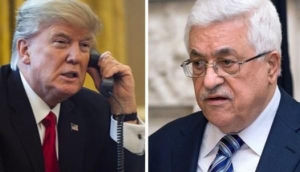 الرئيس الفلسطيني محمود عباس يطلب من ترامب التدخل لإيقاف اسرائيل