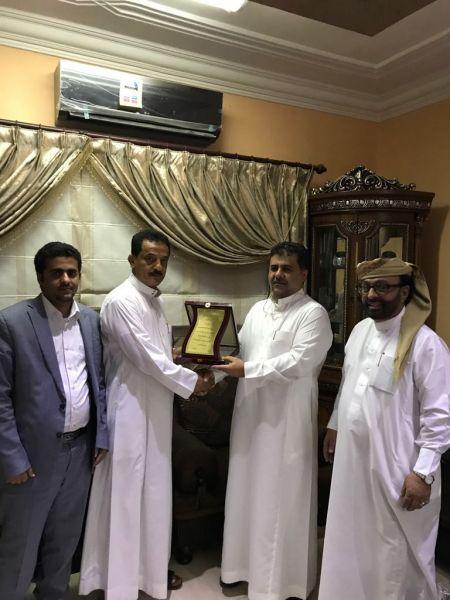 تكريم رجل الاعمال الشيخ احمد صالح العيسي في العاصمة السعودية الرياض