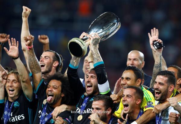 ريال مدريد يكسب كأس السوبر الاوروبي بعد فوزه بهدفين مقابل هدف على مانشستر يونايتد – فيديو و صور