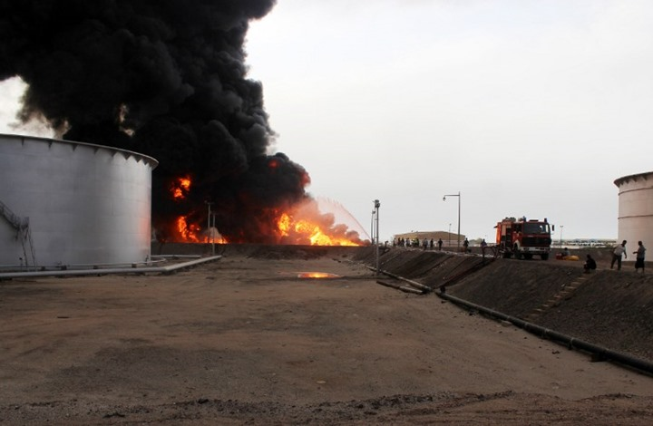 oil pipeline bombed in Shabwa and UAE-backed militias prevent miaintenance process