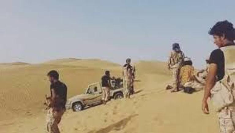 تجدد الاشتباكات لليوم السادس بيت قوات الجيش الوطني والمليشيات الانقلابية في الجبهة الشرقية من بيحان شبوة