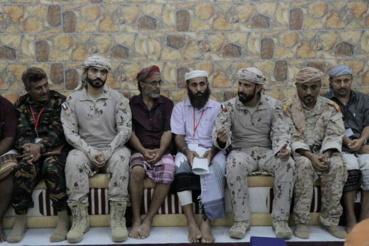 قيادة التحالف تلتقي ابناء قيائل الصبيحة في عدن!!