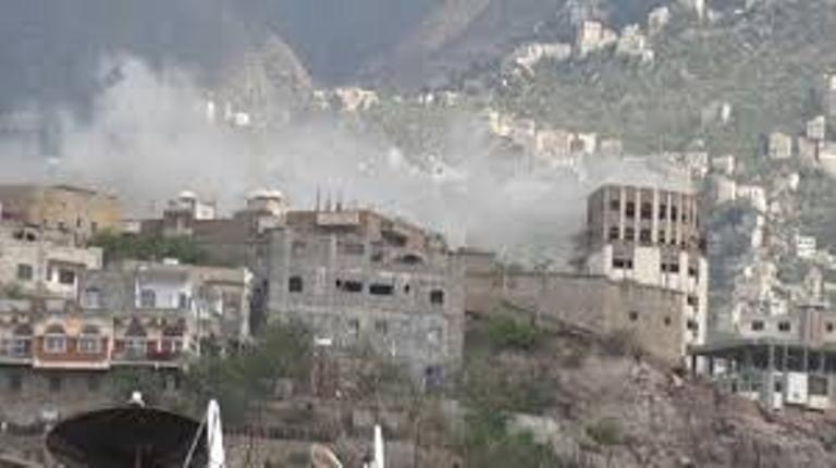 معارك عنيفة شهدتها الجبهة الغربية بمحافظة تعز
