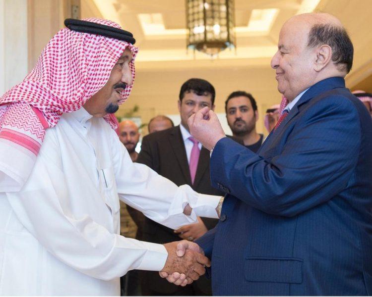 الرئيس هادي يهنئ الملك سلمان بمناسبة عيد الأضحى المبارك