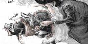 كاريكاتور ايران ومليشيا الحوثي