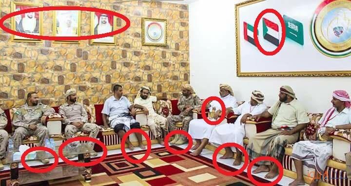 """شاهد بالصور… فضيحة """"المندوب السامي الاماراتي في عدن"""" مع مشائخ شبوة"""