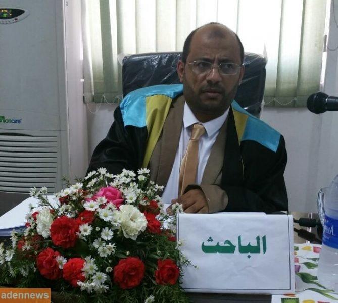 الباحث اليمني محمد احمد المنصري ينال درجة الدكتوراه بامتياز من جامعة قناة السويس في مصر