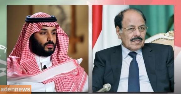 الفريق علي محسن الاحمر يهنئ الامير محمد بن سلمان بمناسبة اليوم الوطني للسعودية
