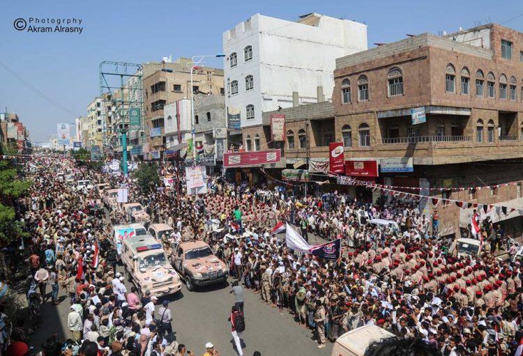 سكان تعز يحتفلون بالذكرى ال55 لثورة 26 سبتمبر