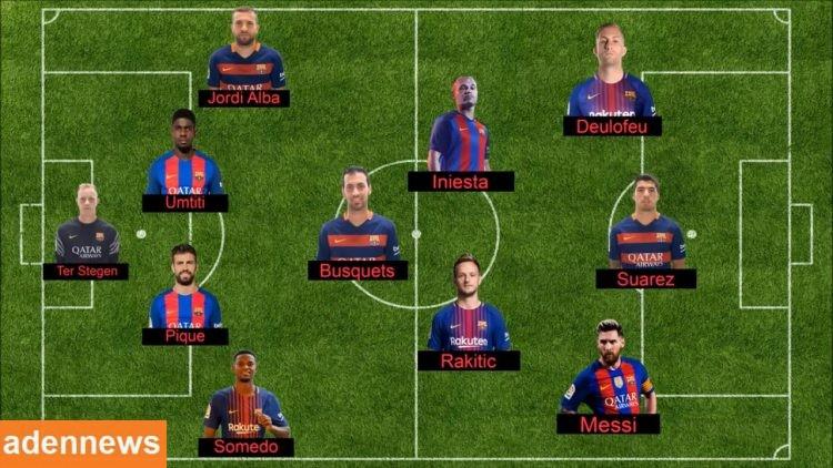هذه هي تشكيلة برشلونة اليوم أمام سبورتينج لشبونة في دوري الابطال