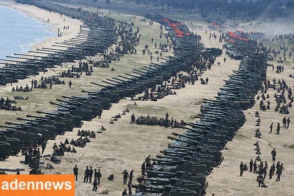 """غزو أمريكي """"براً وبحراً وجواً"""" وعمليات عميقة .. تفاصيل مرعبة (شاهد صورة لاستعدادات الجيش الكوري)"""