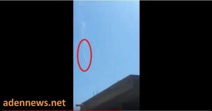 شاهد فيديو واضح اثناء سقوط الطائرة الامريكية في العاصمة اليمنية صنعاء