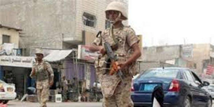 قوات الامن في لحج تعثر على متفجرات مدفونة تحت الارض